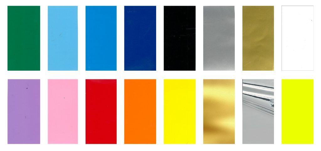 Farver i skiltefolie - alle farver