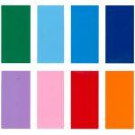 Farver klistermærker i skiltefolie