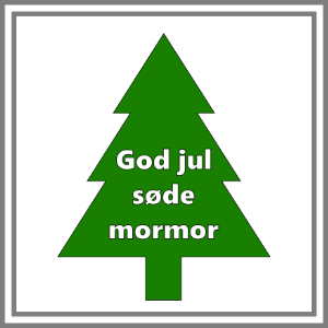 Klistermærke juletræ med personlig tekst