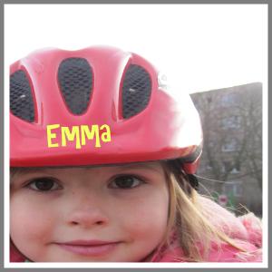 Cykelhjelm med navn personlig