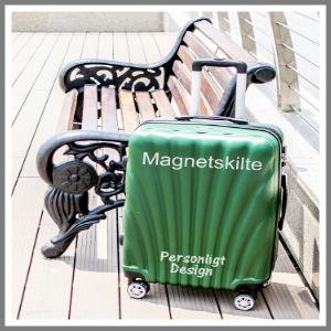 Kuffert med navn, logo, tekst, pynt