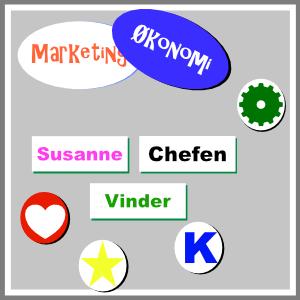 Magneter til whiteboard individuelle personlige