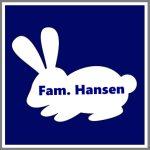 Magnetskilt personligt bil kanin familie