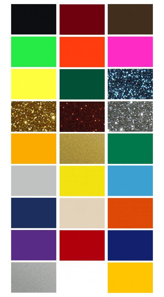Strygemærker, tekstilfolie, strygestof farver