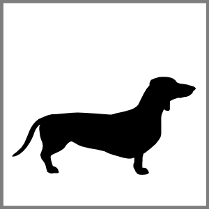 Silhuet gravhund kæledyr