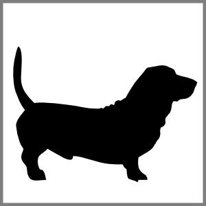 Silhuet hund gravhund kæledyr