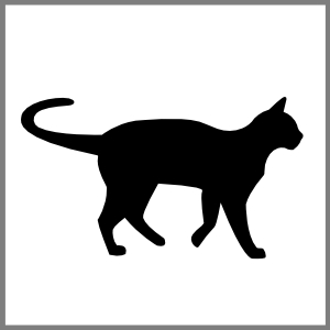 Silhuet kat står kæledyr