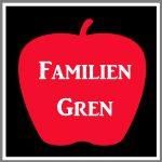 Magnetskilt bil personligt figur æble familie