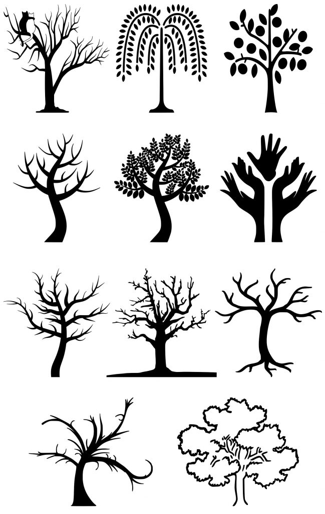 Postkasse pynt træer