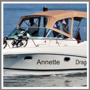 Bådnavn folie navn havn til båden