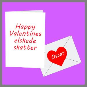 Fødselsdagskort Valentines kæreste kort