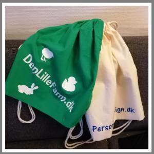 Gymnastikpose rygsæk med tryk navn figurer
