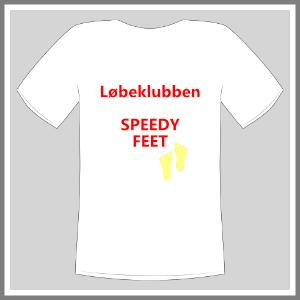 Tryk på tøj t-shirt hvid løbeklub hvid rød guld mand ront