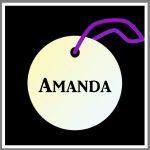 Refleksbrik rund personlig navn sort