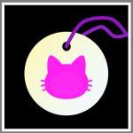 Refleksbrik rund personlig kat pink