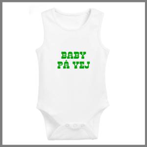 Baby bodystocking med tekst - baby på vej