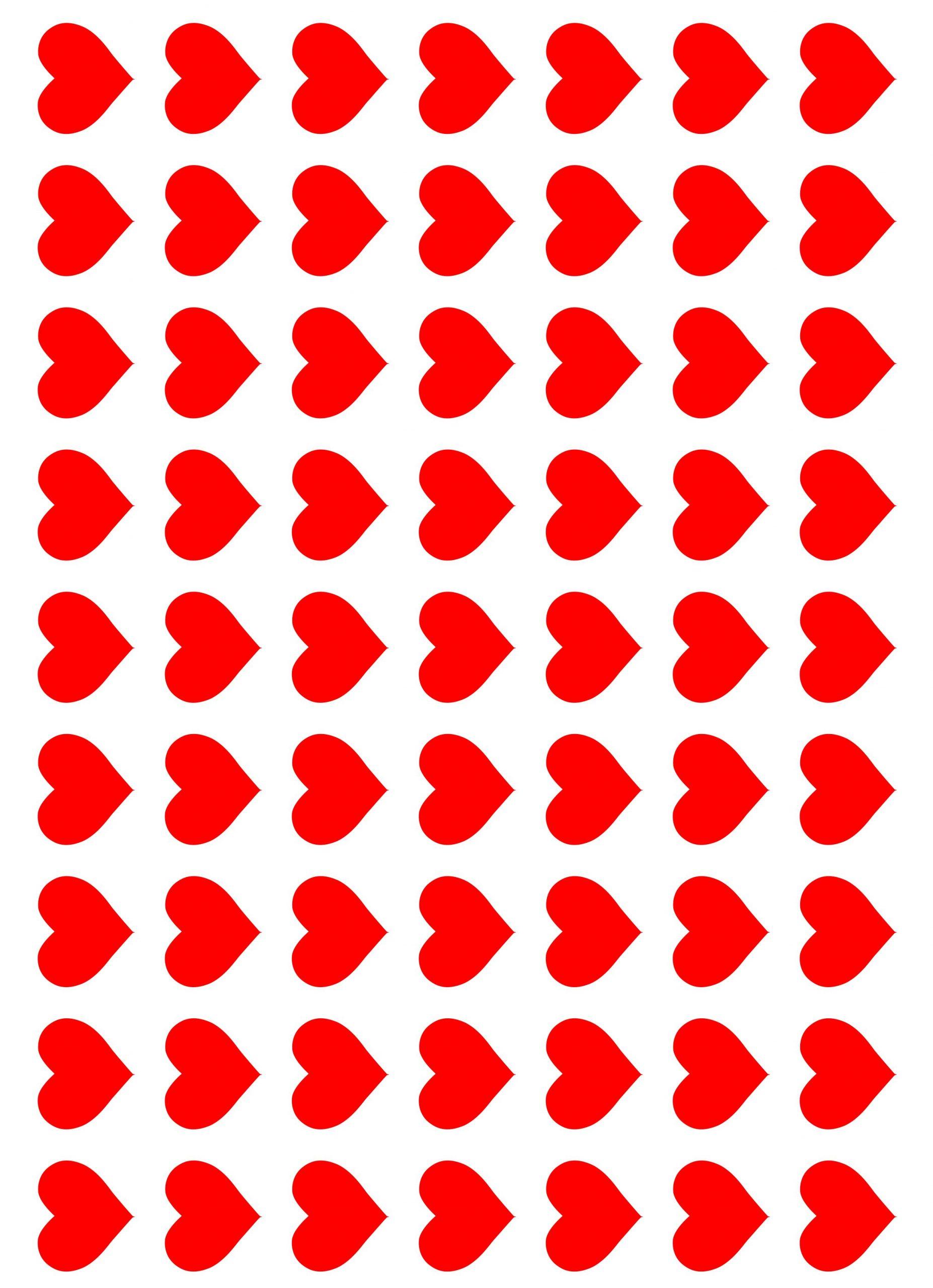 Klistermærker hjerter til bryllup og kærlighed