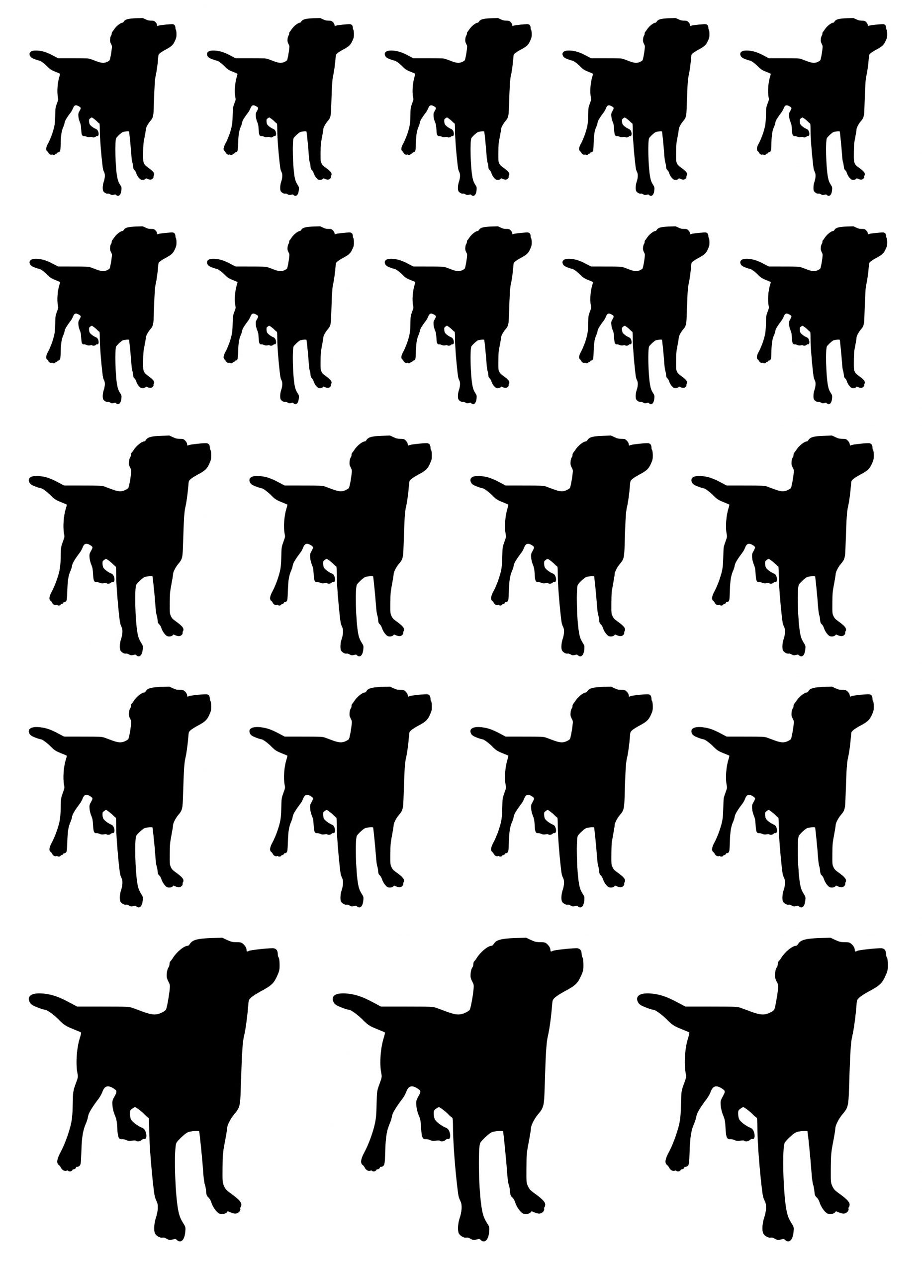 Klistermærker kæledyr store hunde ark