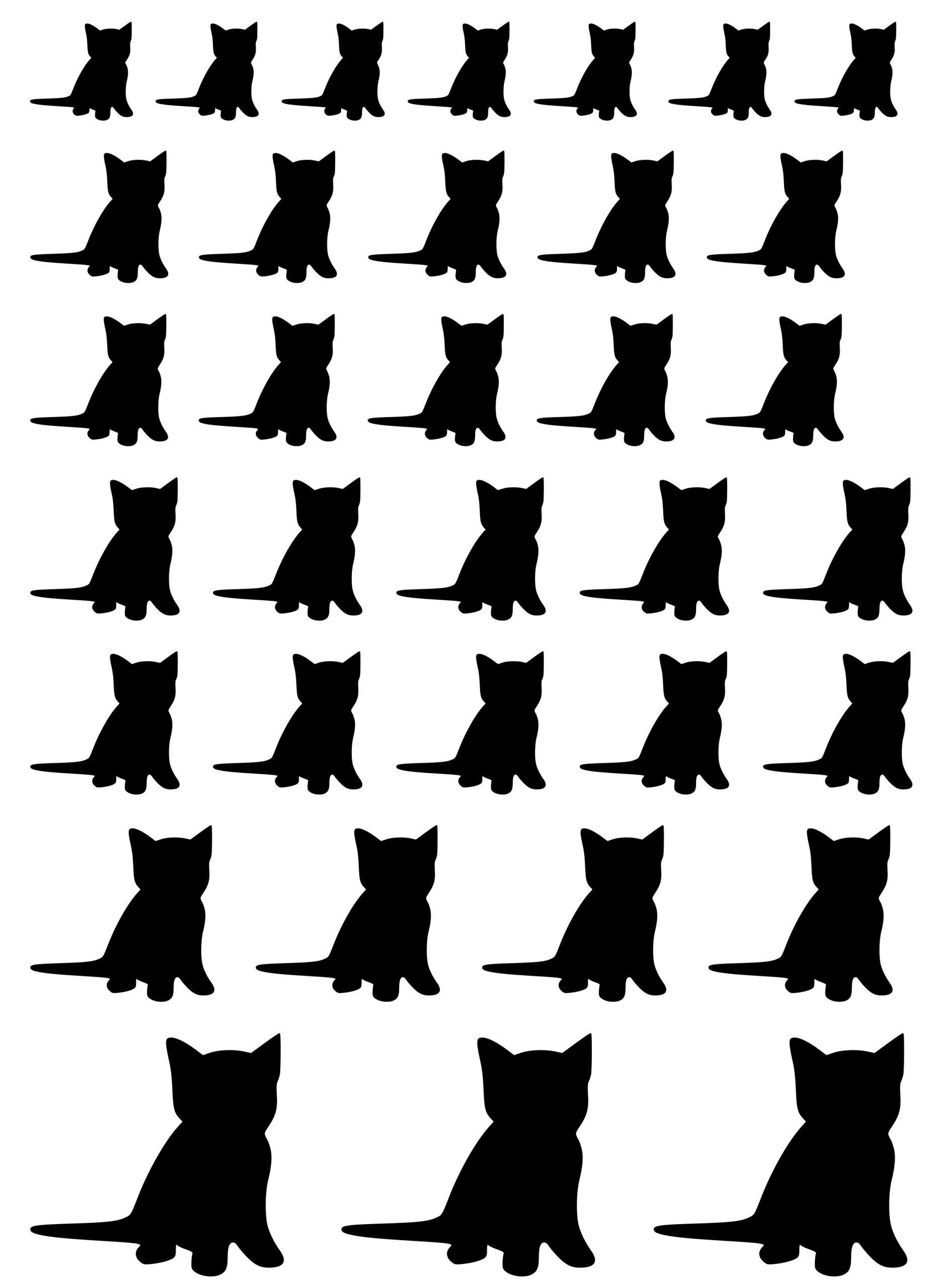 Klistermærker ark kattekilling
