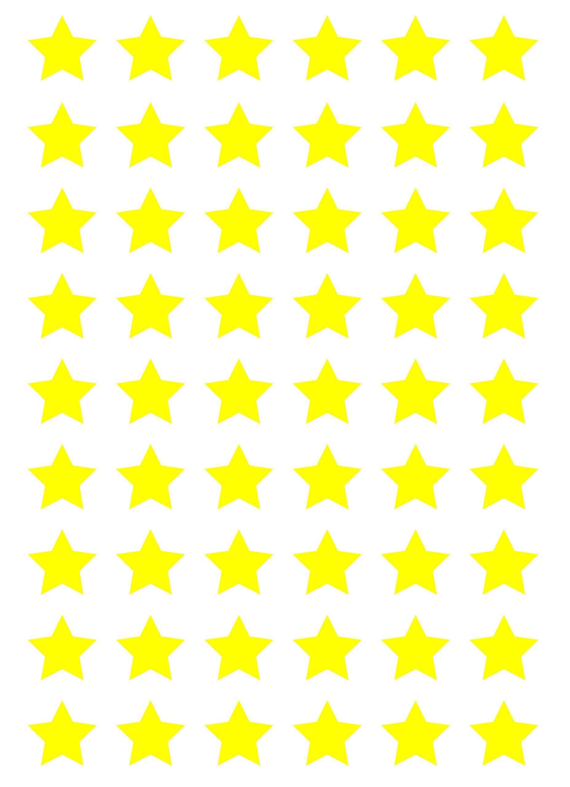Klistermærker ark stjerner