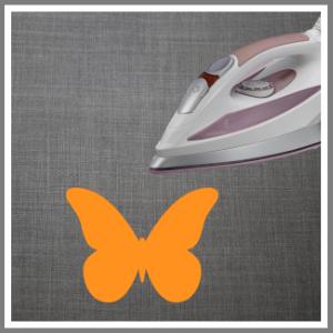 Strygemærke tryk tøj sommerfugl orange
