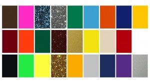 Strygemærker tryk tekstilfolie farver