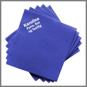 Papirserviet fest strygemærke tryk fødselsdag blå