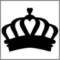 Papirklip udskåret papir prinsesse krone silhuet