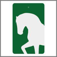 Refleksbrikker grøn med hvid hest