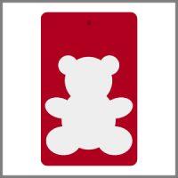 Refleksbrikker rød med hvid bamse
