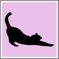 Klistermærke silhuet af din kat, hund, kanin, marvin eller hest